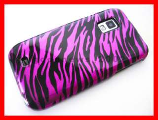 for US Cellular Samsung Mesmerize   Hot Pink Zebra Hard Case Phone
