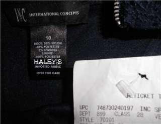 INC LACE BLUE IRIDESCENT SPARKLE SEQUIN DRESS 6,10,12