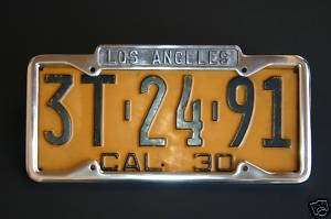description los angeles license plate frame specially made to fit