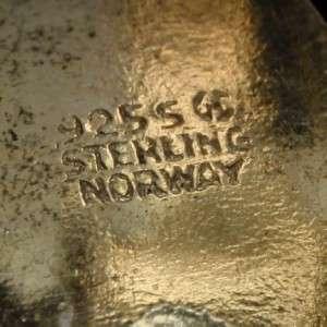 Earrings Vintage Sterling Silver Enamel Clips Ivar Holt Norway