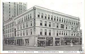 1920s Hotel Andrew Jackson Jacksonville FL postcard