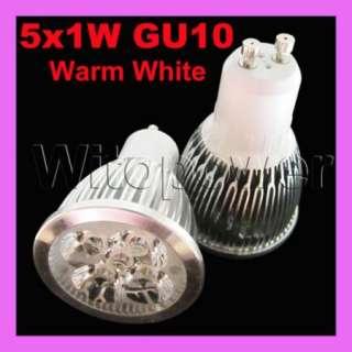 20x Lot 5W 5X1W GU10 LED Lamp Warm White Light Bulb High Power