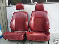 JDM HONDA PRELUDE BB6 SIR RED FRONT SEATS COMPLETE OEM
