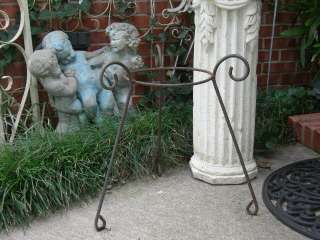 OLD RUSTY METAL SHABBY FLOWER PLANT STANDS~CURVY CHIC