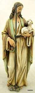 Good Shepherd Lamb Holy Statue Jesus Christ Protection