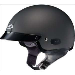 Matte Black Open Face Motorcycle Helmet IS2 Size 2X Large Automotive