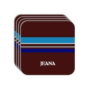 Personal Name Gift   JEANA Set of 4 Mini Mousepad Coasters (blue