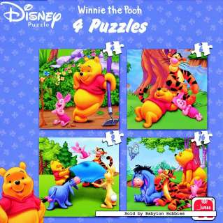 picture of Jumbo 4 pieces jigsaw puzzle Disney   Winnie the Pooh