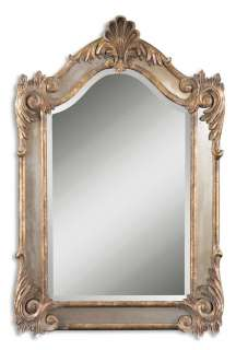 LARGE FRENCH ORNATE WALL MIRROR