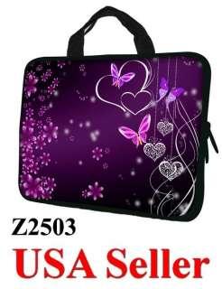 17 17.3 LAPTOP SLEEVE BAG CASE w HIDDEN HANDLE BUTTERFLY Z2503   USA
