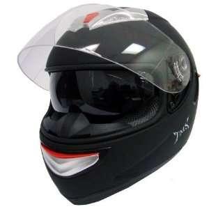MATTE BLACK DUAL VISOR FULL FACE MOTORCYCLE HELMET(JX A5005 SOLID