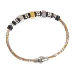 Charriol Mens Stainless Steel Two Tone Kada/bracelet