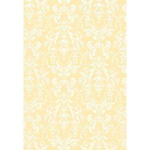 Lido Damask Cornsilk by F Schumacher Wallpaper
