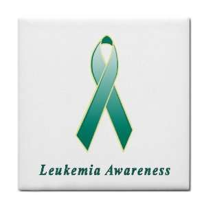 Leukemia Awareness Ribbon Tile Trivet: Everything Else
