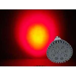 LED Red 630nm Grow Light 12W   Standard Base 120V Patio