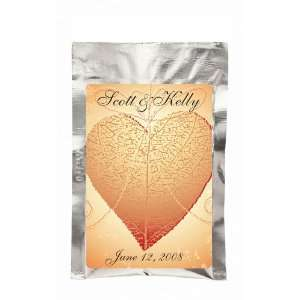 Wedding Favors Heart Shape Leaf Design Personalized French Vanilla Hot