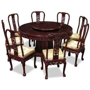 round dining table with 8 chairs dragon design furniture decor