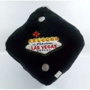 Las Vegas Large Black Pillow Fuzzy Dice Ornament Automotive