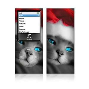 Christmas Kitty Cat Decorative Skin Decal Sticker for