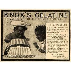 1900 Ad Charles B Knoxs Gelatine Black Americana RARE