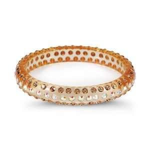 Smoky Topaz Rainbow Swarovski Crystal Bangle Bracelet Jewelry