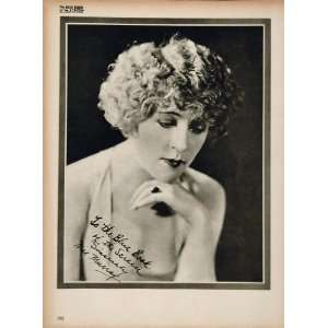1923 Mae Murray Silent Film Actress Biography Print