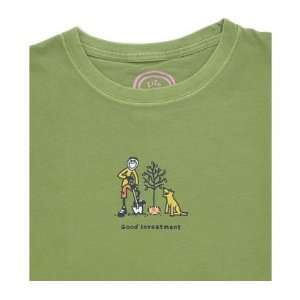 LIFE IS GOOD GOOD INVESTMENT S/S CRUSHER TEE   WOMENS