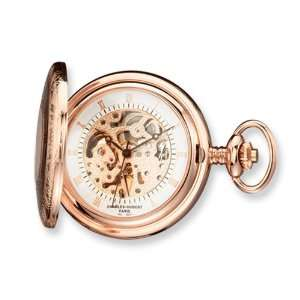 Hubert Rose Gold plated Brass Window Cover Pocket Watch Jewelry