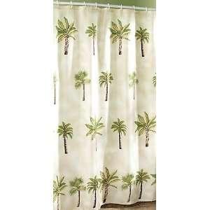 Palm Tree Tropical Island Paradise Bathroom Shower Curtain