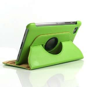 Green / PU Leather Flip Stand Case for Galaxy Tab GT P6800