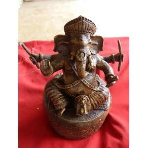 DragoNista God Ganesh, Hindu Elephant God of Success Statue Natural
