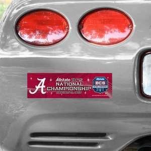 NCAA Alabama Crimson Tide 2012 BCS National Championship Game Bumper