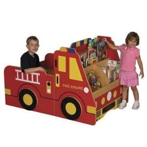 ECR4Kids Fire Engine Book Storage Center