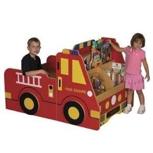 ECR4Kids Fire Engine Book Storage Center  Home & Kitchen