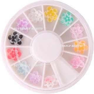 12 colors peony shaped FIMO nail art decoration B40