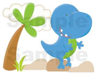 DINOSAURS DINO NURSERY BABY WALL BORDER STICKERS DECALS