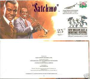 Louis Armstrong New Orleans Jazz Fest Cachets (#6)