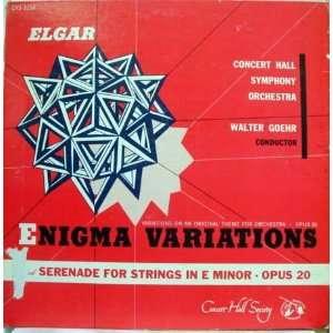 Goehr Elgar Enigma Variations Lp Concert Hall Music