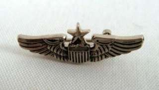 Pilot Wing Insignia Pin Vietnam Era Major General Overacker