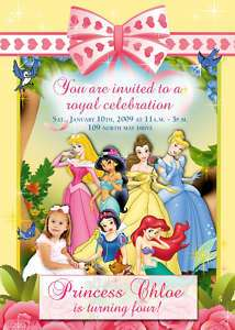 Personalized Disney Princess Invitation