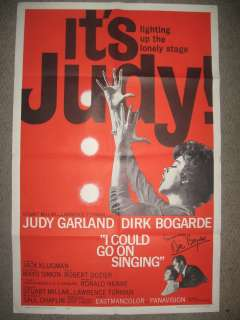 AUTOGRAPHED JUDY GARLAND I COULD GO ON SINGINGMOVIE POSTER SIGNED