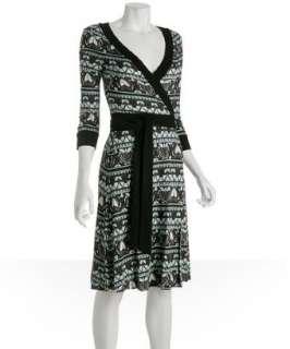 Diane Von Furstenberg biba print silk jersey Taurus wrap dress