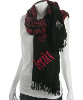 Sir Alistair Rai black Freaky fringed scarf