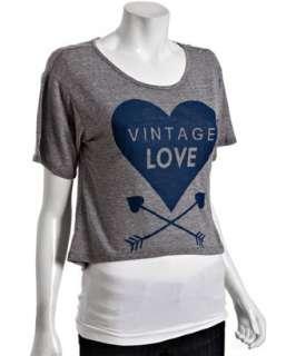 Vintage Havana grey jersey slub Vintage Love cropped t shirt
