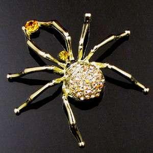 ADDL Item  1 pc Austrian rhinestone crystal Spider