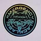 New Black Label Emergency Sticker Decal Skateboard Grosso Blue