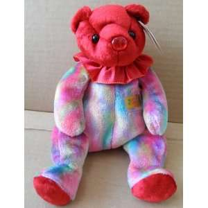 TY Beanie Babies Ruby July Birthday Bear Stuffed Animal