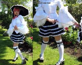 SW5, Lolita gothic white women corset shirt