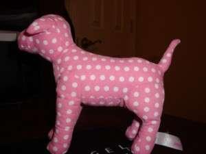 VICTORIAS SECRET PINK SMALL POLKA DOT PET PLUSH DOG
