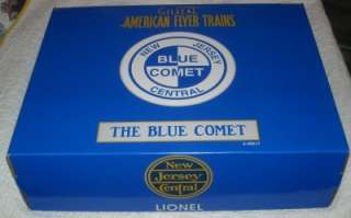 AMERICAN FLYER BLUE COMET TRAIN SET 6 49617 ENGINE TENDER & 4 CARS IN